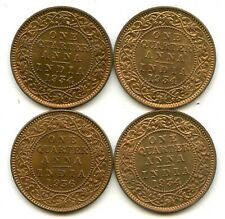 Genuine 1934 & 1936 British India 1/4 Quarter Anna | UNC Condition