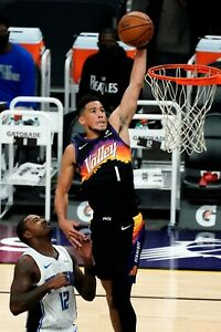 Phoenix Suns Devin Booker Dunking Poster (24x36 inches)