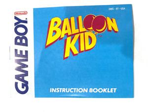 Balloon Kid GameBoy Nintendo Instruction Manual