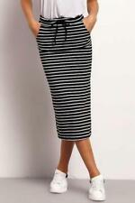 Women's Midi Striped Skirt