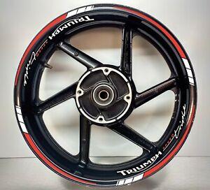 Triumph Speed Triple Reflective Red & REFLECTIVE White, Wheel Rims 025/052