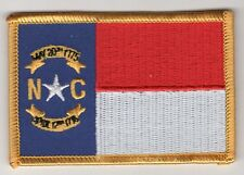 North Carolina State Flag Patch Embroidered Iron On Applique