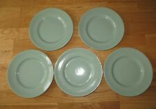"""Vintage Retro Woods Ware Beryl Green Pattern 9"""" Wide Salad Plates X4 lunch 50s"""