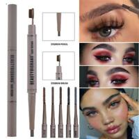 Eye Cosmetic Toothbrush Double Head Waterproof Eyebrow Pencil Brow Liner Pen