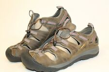 KEEN Men 12 46 Stream Pedal Leather Waterproof 4-Bolt Cycling Sandals 12013-SHDW
