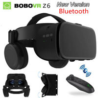 BoBo 3D Virtual Reality Headset Remote VR Glasses Box With Bluetooth Headphone