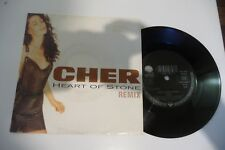 """CHER 45T HEART OF STONE REMIX. 7"""" SEXY COVER CHEESECAKE."""