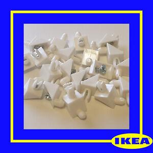 101558 x 20 IKEA KOMPLEMENT PAX Wardrobe Shelf Support/Plug/Pins/Brackets -WHITE