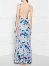 Free People Floral Sexy Romantic Low Back Boho Long Maxi Slip Dress NWT $98