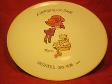 """10"""" PORCELAIN Collector Plate MOTHERS DAY 1974 A Mother is for Loving MARIA [Z6]"""
