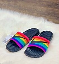NIKE BENASSI JDI BETRUE Slides Rainbow Multi-Color LGBTQ  Men's Size 11
