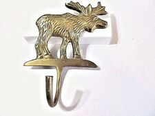 BRASS MOOSE COAT HAT OR TOWEL HOOK ARCHITECTURE LODGE CABIN HOME DECOR DETAILED