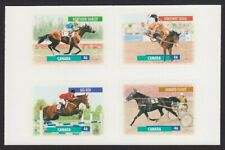 CANADIAN HORSES = Block of 4 cut from Booklet = Full set = Canada 1999 1798a MNH
