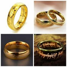 Gold Charm Rings Usa Size 8 Man Fashion Jewelry Stainless Steel Polished Mans