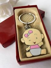 24-Baby Shower Favors Girl Party Keychains Pink Recuerdos De Nina Llaveros Party