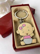 24-Baby Shower Favors Girl Party Keychains Pink Recuerdos De Nina Llaveros Party