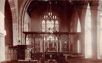 POSTCARD  SOMERSET  CROWCOMBE  CHURCH  ( Interior  )  Circa  1905    RP