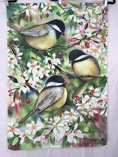 Kathleen Parr McKenna Bird Trees Outdoor Decorative Garden Flag Decoration 27x39