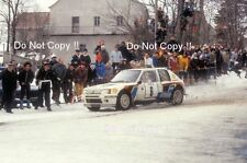Timo Salonen Peugeot 205 Turbo 16 Monte Carlo Rally 1985 Photograph 2