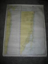 Vtg 70s 1975 JUPITER INLET TO FOWEY ROCKS Nautical Chart 11466 Map 17th Ed. NOAA