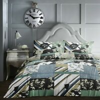 Dreams & Drapes TILE PATCHWORK Duvet Cover Multicolour Teal Quilt Bedding Set