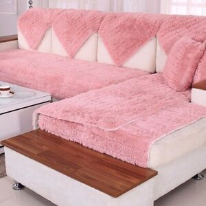 Sofa Covers Towel Soft Plush Couch Cover for Living Room Pad L-shaped Sofa Decor