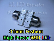 31mm 3175 3022 Festoon Dome 6-LED SMD SMT Car Green Bulb Globe