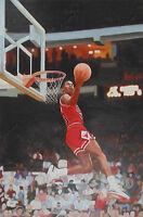 Michael Jordan Original Oil Painting Dunk Art Canvas NBA Bulls NOT Print