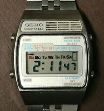 Vintage Seiko A159-4029-G LCD Digital Chronograph Men's Watch Japan