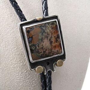 Vintage Sterling/Brass Bolo Tie