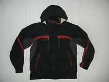 COLUMBIA Black/Red Nylon SHELL RAIN JACKET Hiking Ski Coat Kid Sz YOUTH 18/20 XL