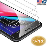 3-Pack 9H Hardness 2.5D Tempered Glass Screen Protector for iPhone 8 Plus 7 Plus