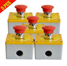 Emergency Red Button Stop x5, Switch E stop 12V 24V Metal Safety Kill Switch 5Pc