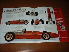 ★★1967 FERRARI 312 F1 SPEC SHEET BROCHURE POSTER PRINT PHOTO 67 FORMULA 1★★
