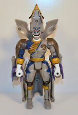 """2002 Gray Lunar Wolf Ranger Transformer 6.5"""" Bandai Action Figure Power Rangers"""