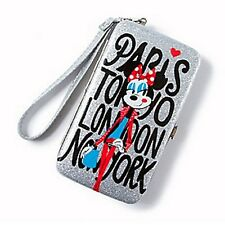 Minnie Mouse Around the World Glitter Smartphone Wristlet - NEW