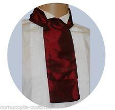 BURGUNDY  CRAVAT  VICTORIAN / EDWARDIAN / GEORGIAN  / COSTUME / FANCY DRESS