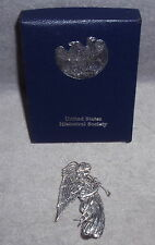 MIB Hand Hammer 1990 USHS Sterling LE Marmion Angel Christmas Ornament Pendant