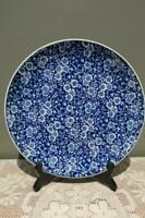 Vintage Blue Chintz Calico Dinner Cake Plate - Made in Japan - Collectable - Gc