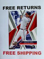 2008 Upper Deck X Card #7 Chipper Jones Atlanta Braves HOF MLB