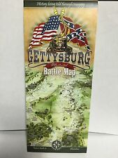 GETTYSBURG ILLUSTRATED COLORFULL BATTLE MAP NEW