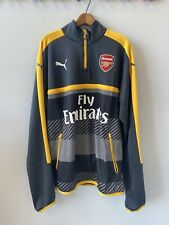 Men's Puma Athletic Arsenal Fc Grey/Yellow Training Fleece - Large