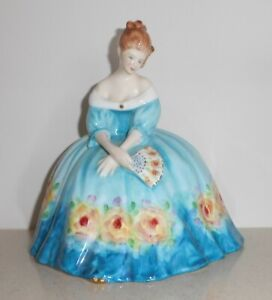 Royal Doulton 'Victoria' Figure in Blue Dress~ HN 3416 (Boxed)