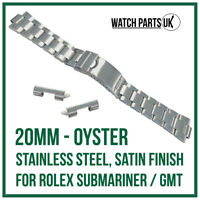 ♛ 20mm Oyster Stainless Steel Bracelet Watch Strap For ROLEX Submariner / GMT ♛