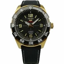 Seiko 5 Sports Gold Coloured Steel Case Nylon Strap Mens Watch SRPB86K1 PREOWNED