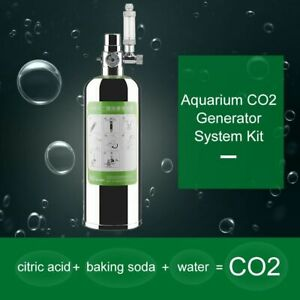 Aquarium Co2 Generator System Kit Durable Stainless Steel Carbon Dioxide Reactor