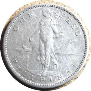 elf Philippines USA 1 Peso 1907 S  Silver  San Francisco Mint  2