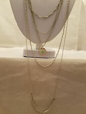 Silver Layer Necklace With Tubes And Round Pendants