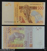 WEST AFRICAN STATES TOGO (T) 500 Francs 2012 UNC