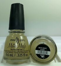 China Glaze Nail Polish MATTE MAGIC Flat Finish Top Coat 9.6ml = 0.325oz